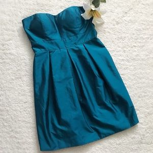 Eliza J Teal Strapless Mini Cocktail Dress Formal